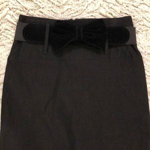 Charlotte Russe Pencil Skirt with bow belt